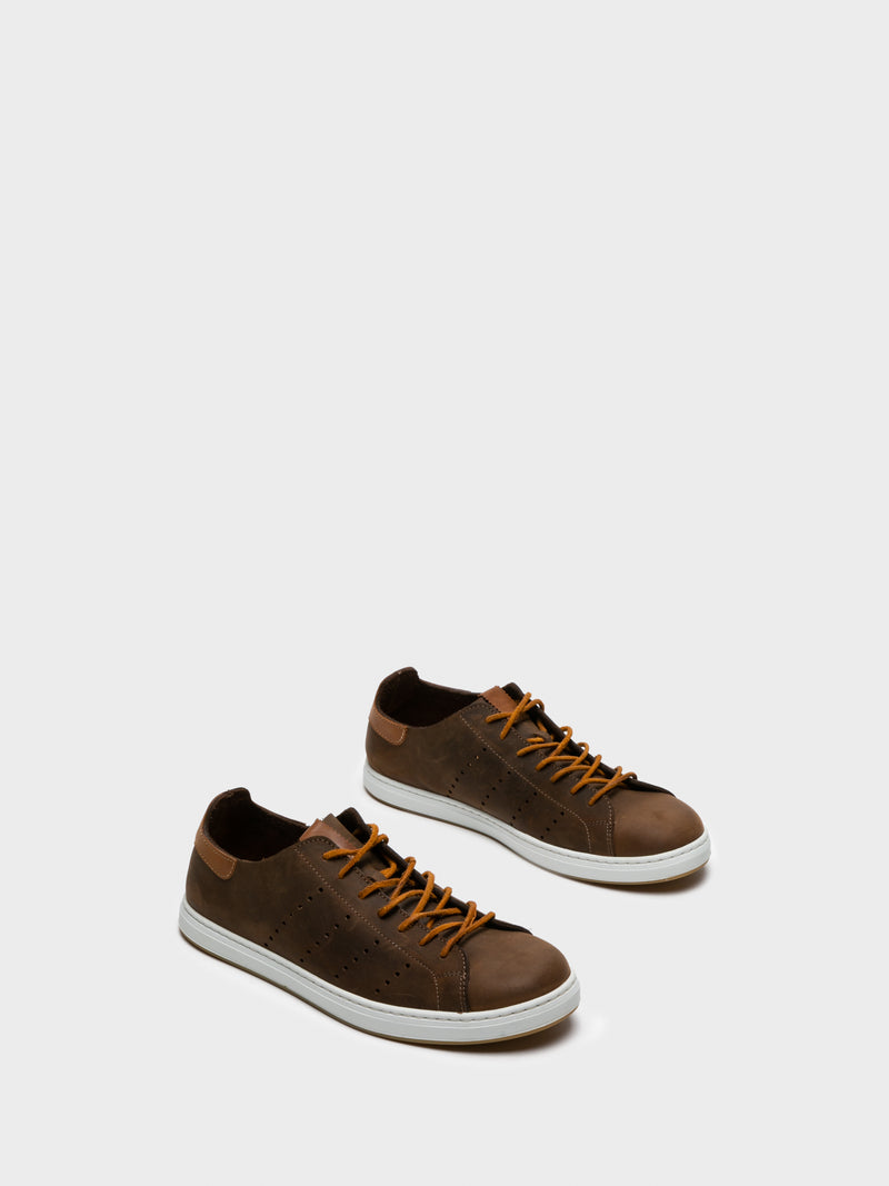 Chocolate Lace-up Trainers