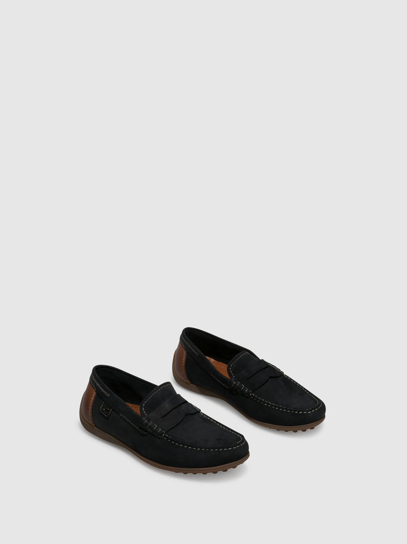 Navy Mocassins Shoes