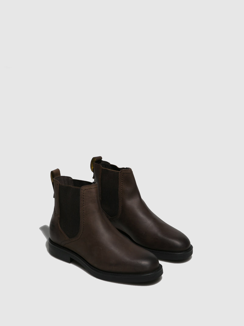 Camel Active Brown Leather Chelsea Boots