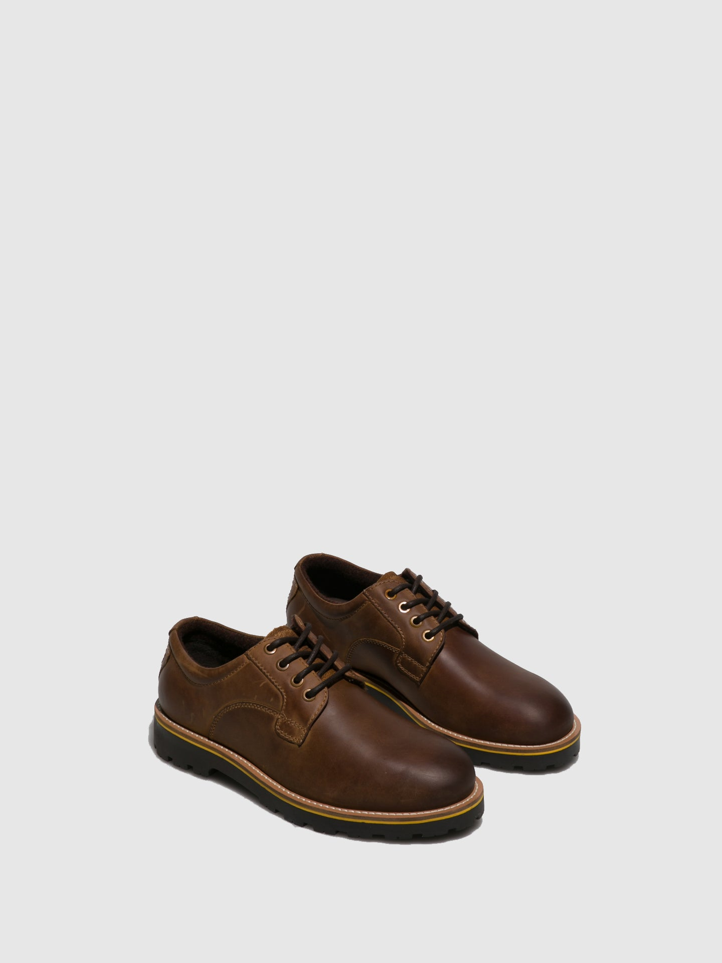 Camel Active Camel Leather Lace-up Shoes