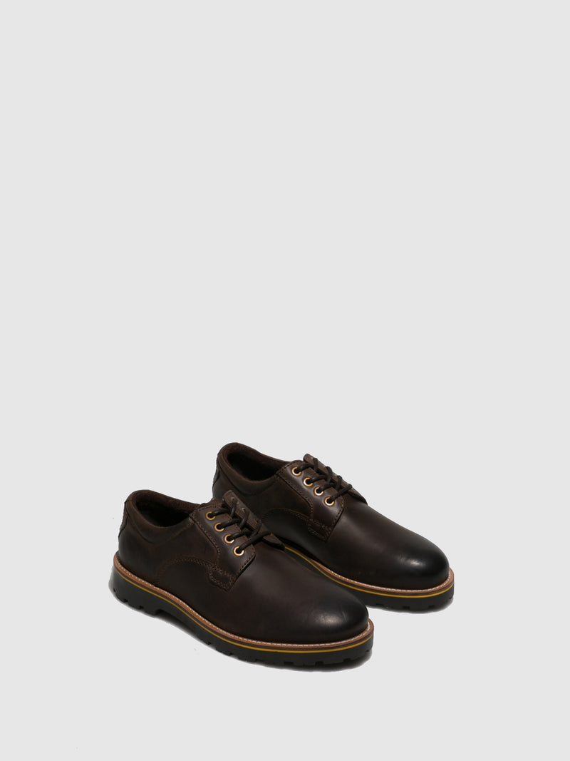 Camel Active Brown Leather Lace-up Shoes