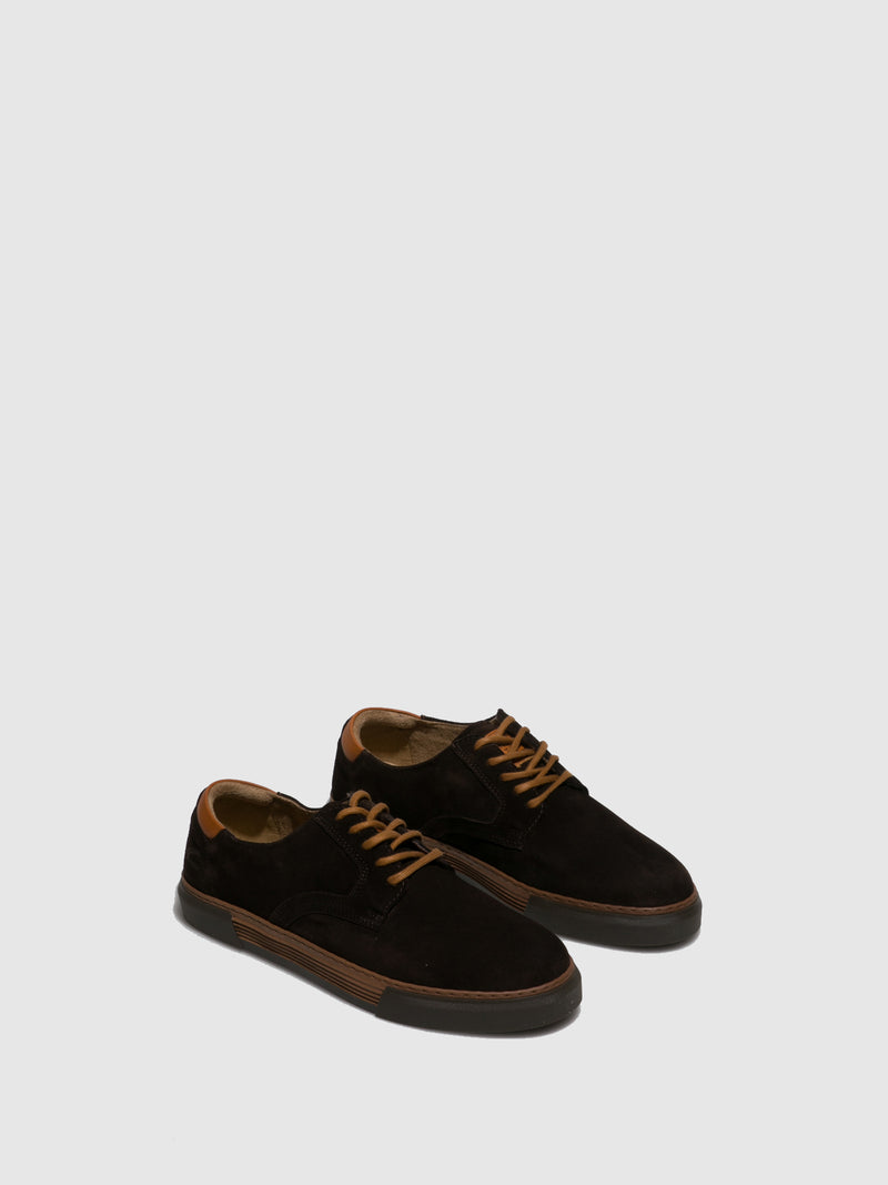 Camel Active Brown Suede Lace-up Shoes