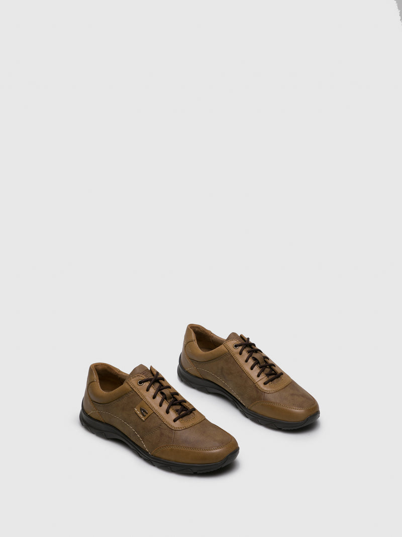 Camel Active Tan Lace-up Shoes
