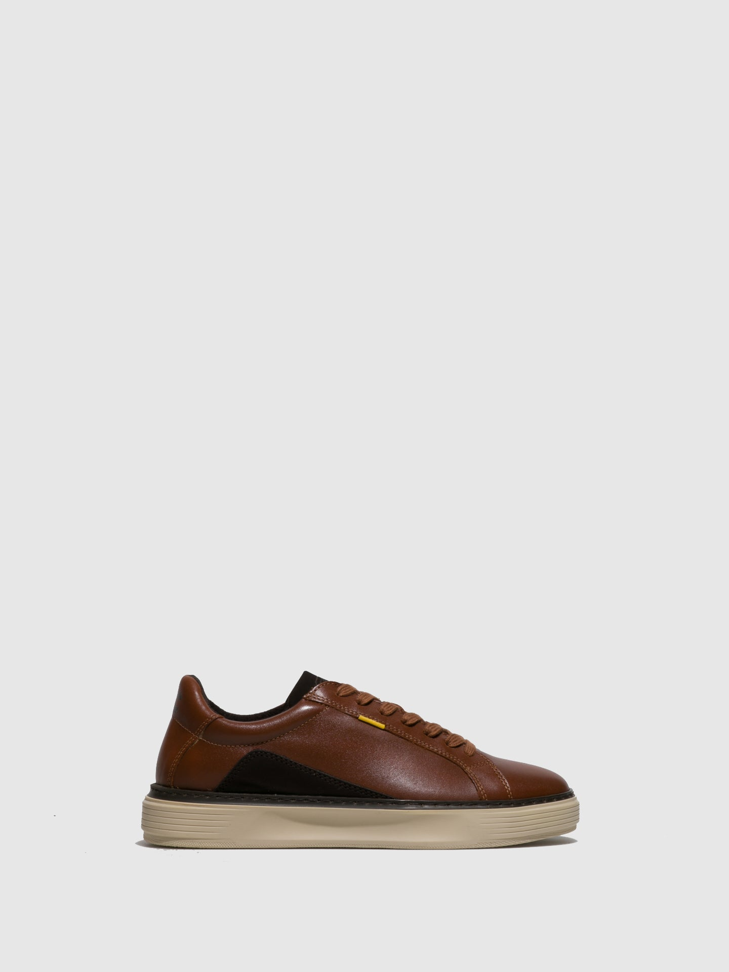 Camel Active Caramel Brown Lace-up Trainers
