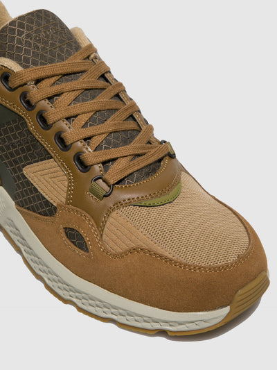 Camel Active Taupe Lace-up Trainers