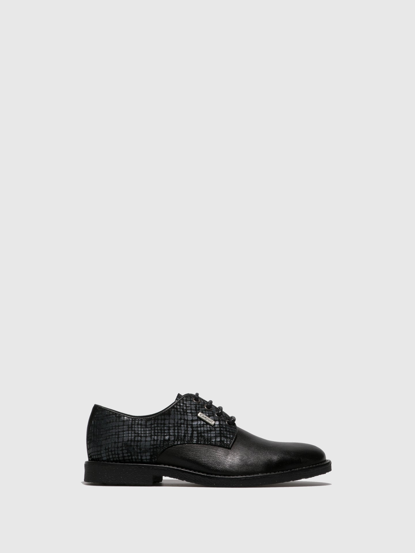 Camport Black Lace-up Shoes