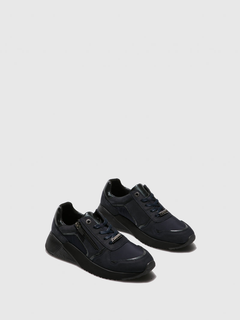 DarkBlue Lace-up Trainers