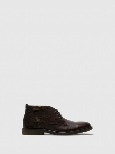 Camport Brown Lace-up Ankle Boots