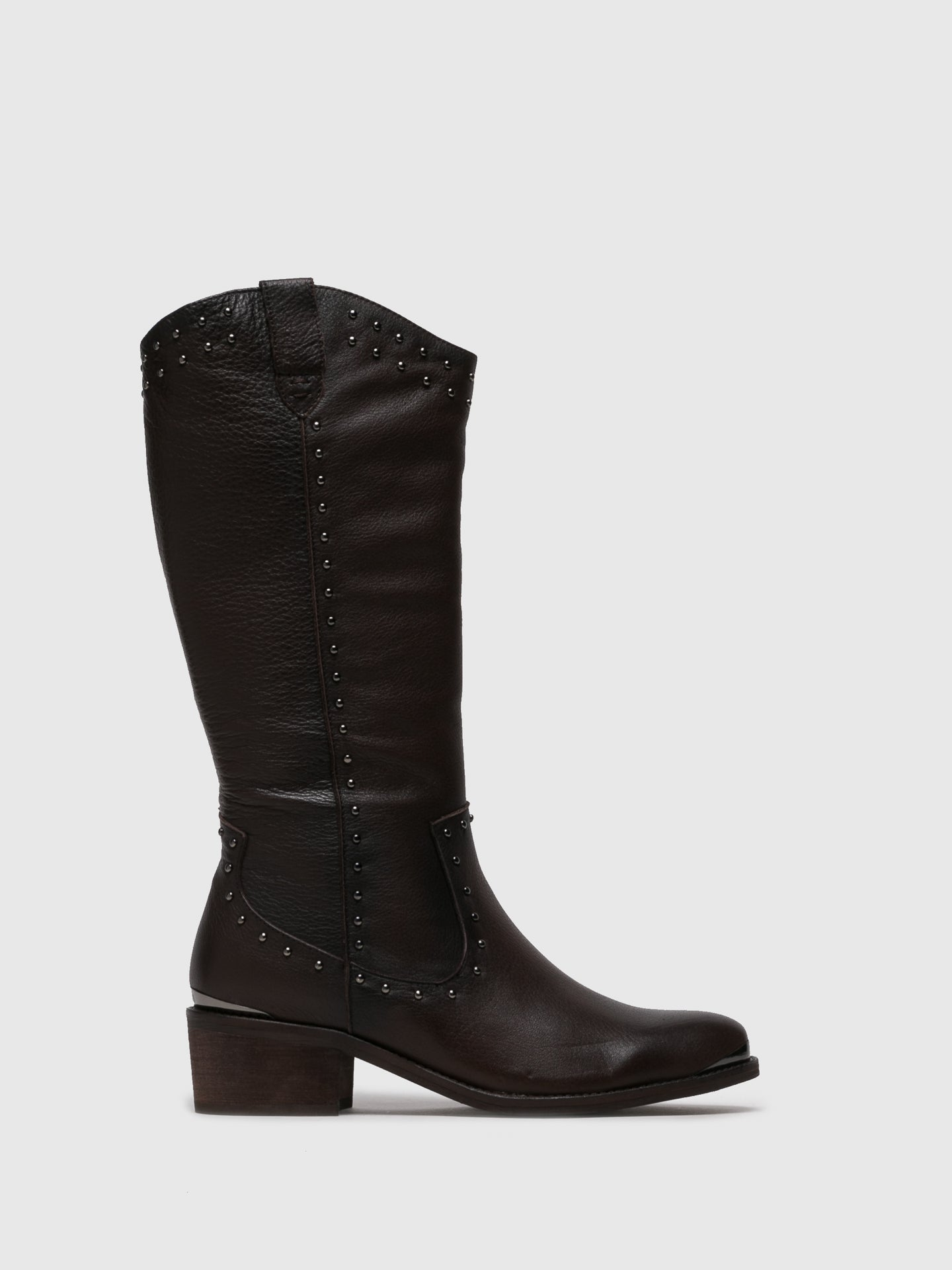 Carmela Brown Knee-High Boots