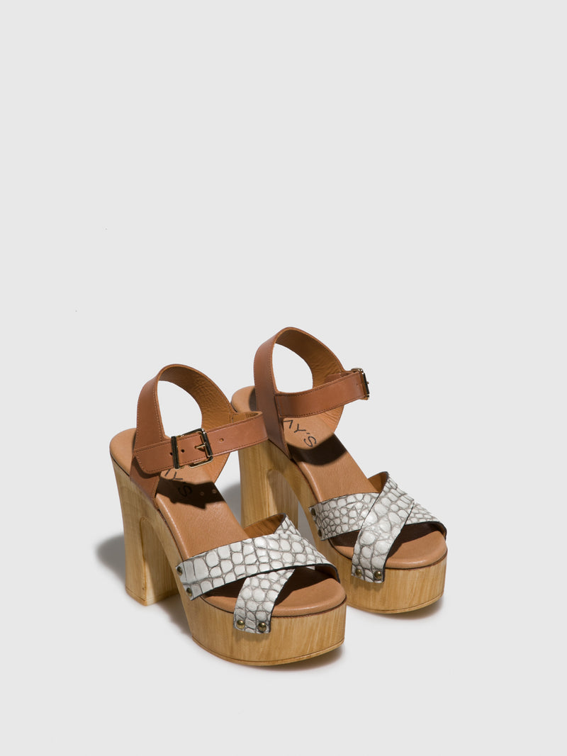 Clay's White Sling-Back Pumps Sandals