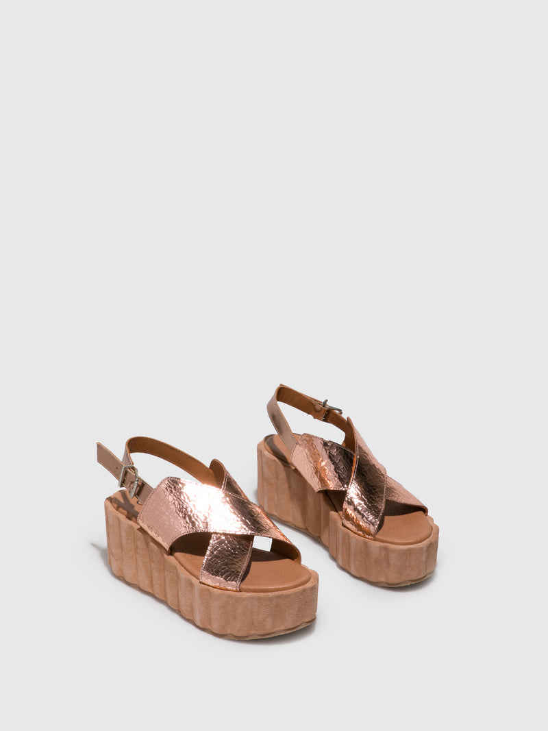 Clay's PeachPuff Platform Sandals