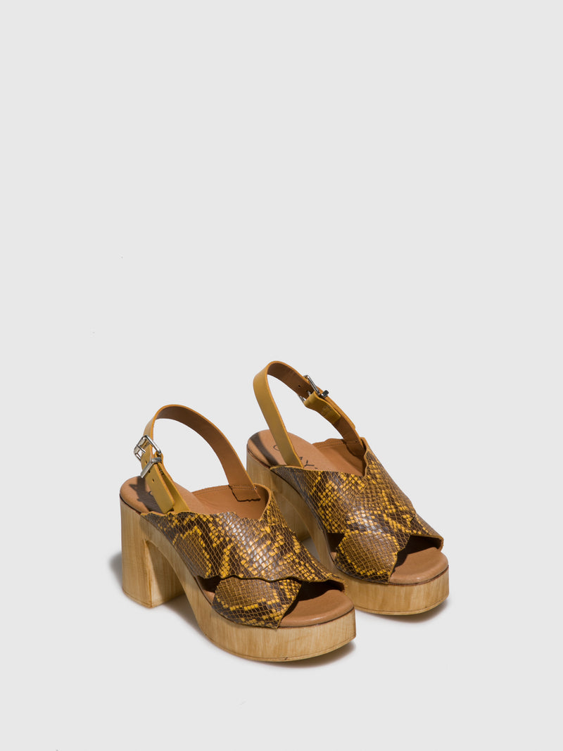 Clay's Yellow Sling-Back Pumps Sandals