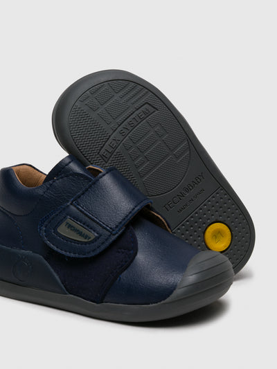 Conguitos Navy Velcro Ankle Boots
