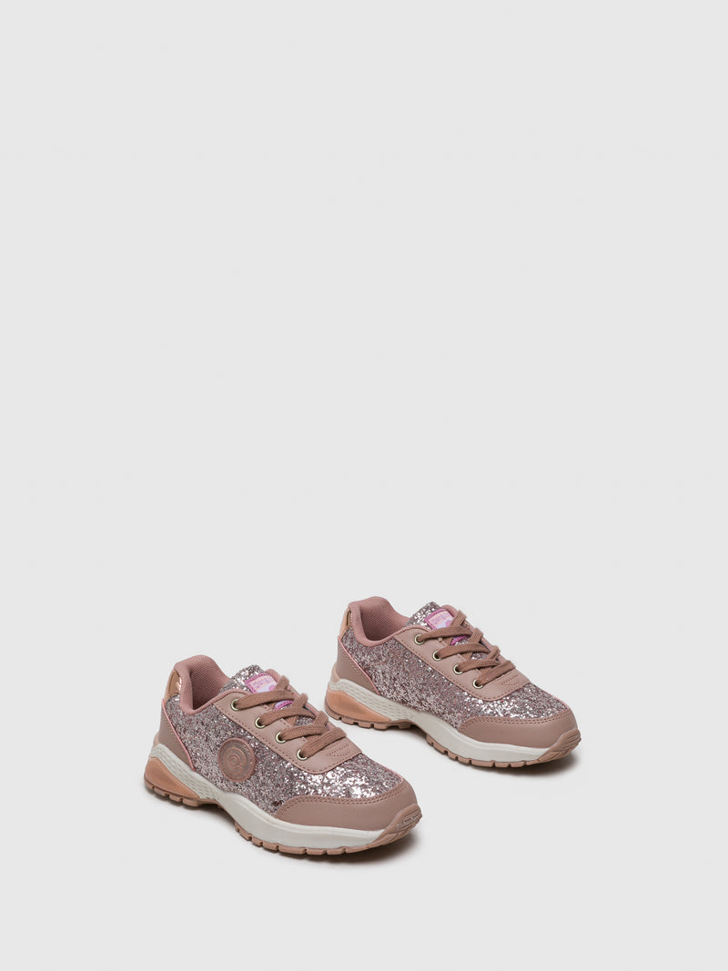 Conguitos Pink Lace-up Trainers