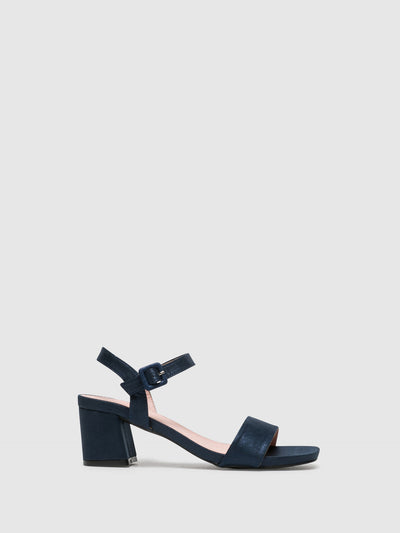 D'Angela Navy Buckle Sandals