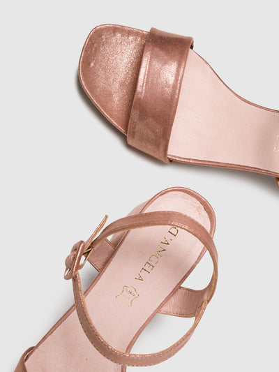 D'Angela RoseGold Buckle Sandals