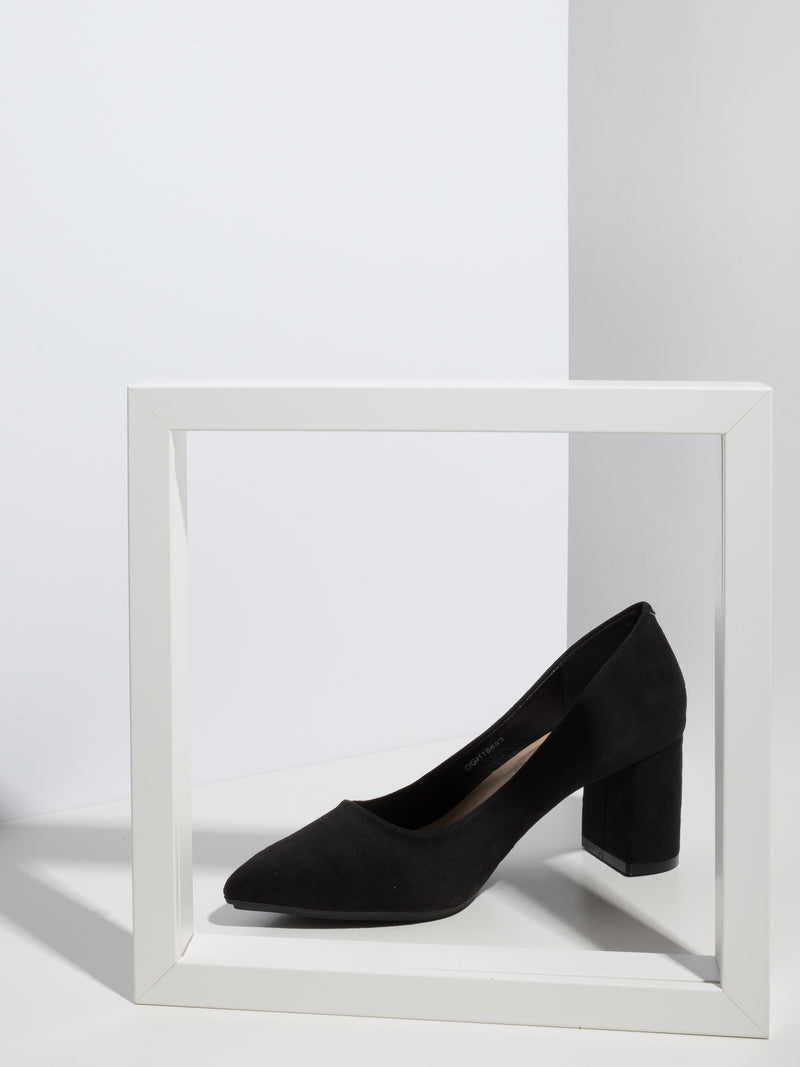 Black Pointed Toe Pumps Shoes