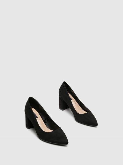 D'Angela Black Pointed Toe Pumps Shoes