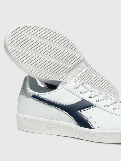 Diadora White Lace-up Trainers