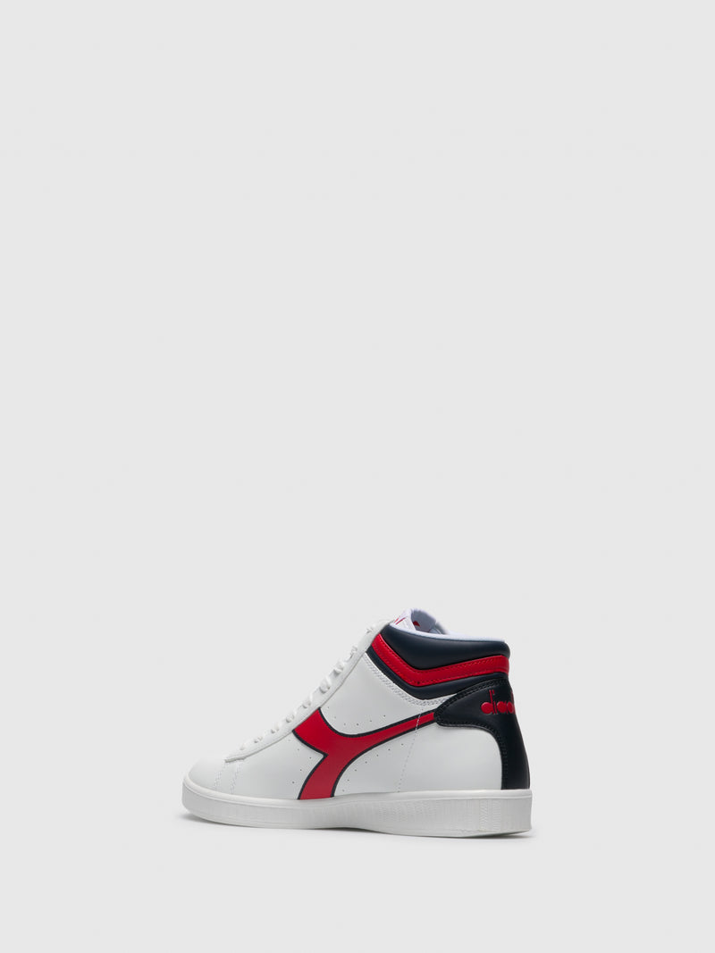Red White Hi-Top Trainers