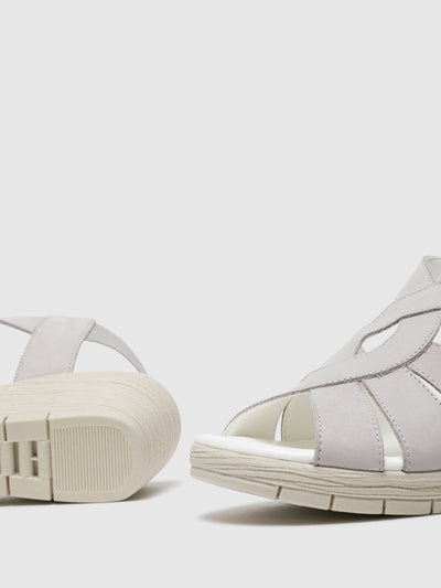 The Flexx Gray Wedge Sandals