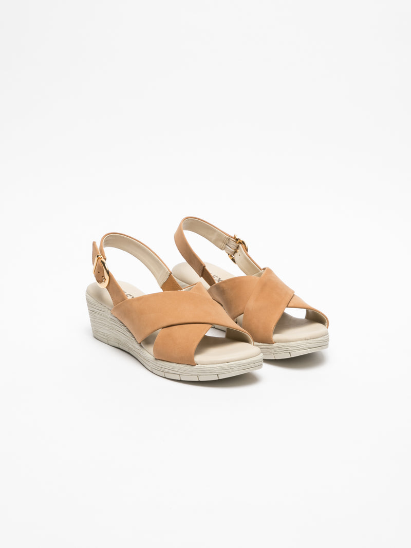 The Flexx Brown Wedge Sandals