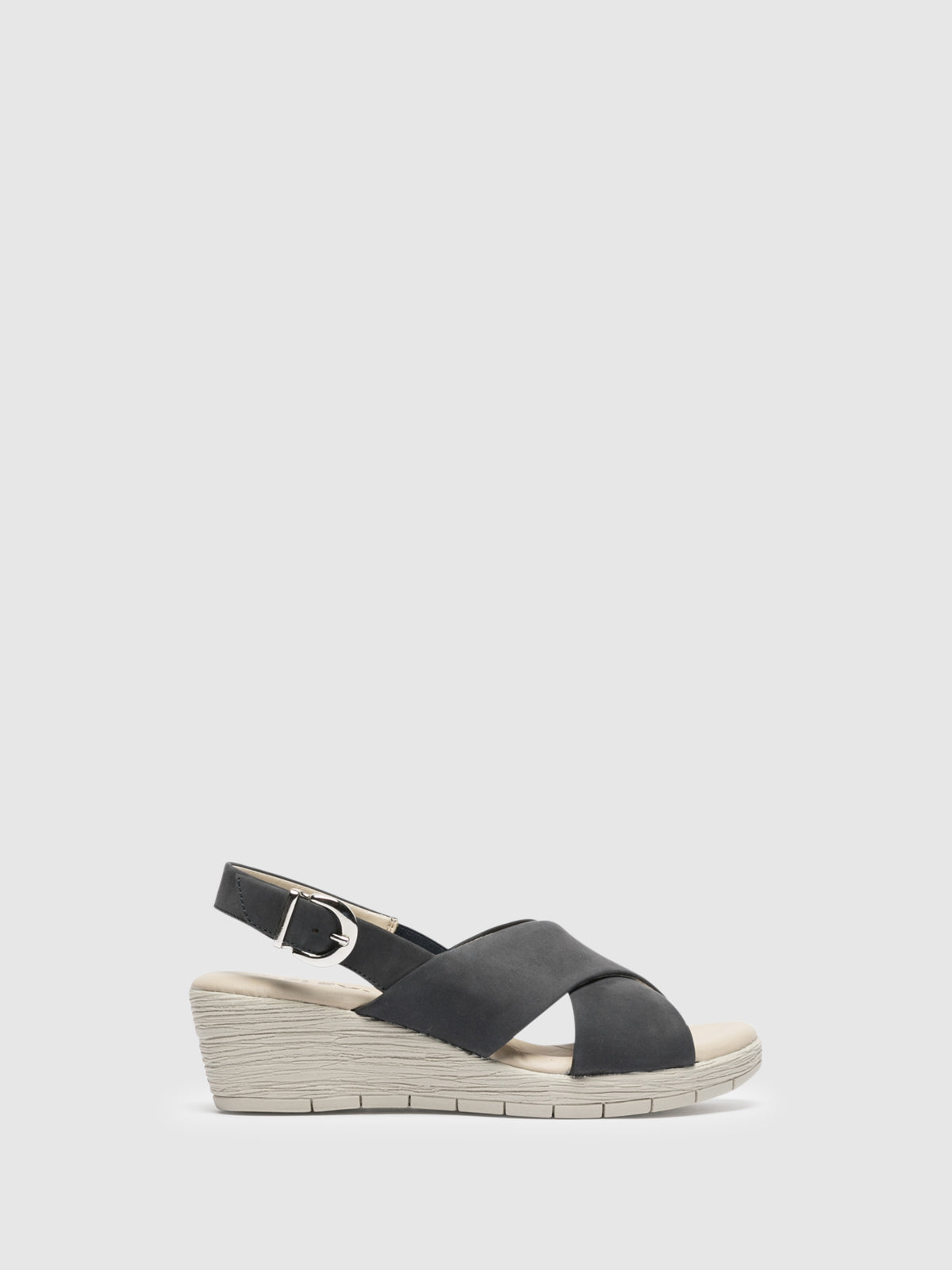 The Flexx Navy Wedge Sandals