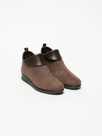 The Flexx SaddleBrown Zip Up Ankle Boots