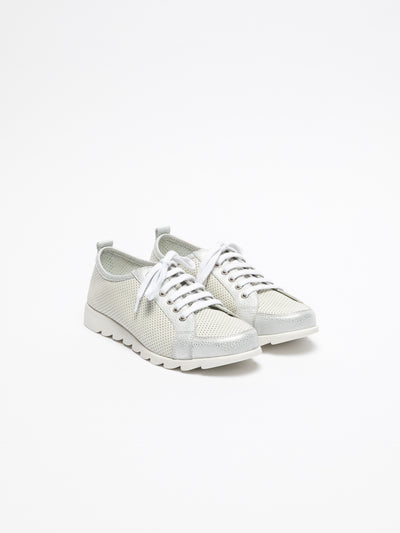 The Flexx Silver Lace-up Trainers