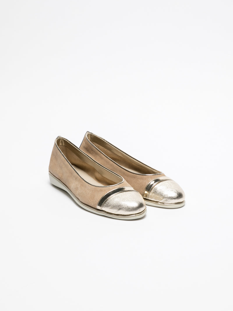 The Flexx Beige Round Toe Ballerinas