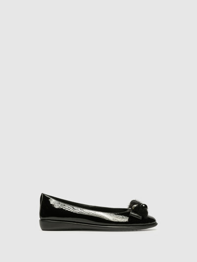 The Flexx Black Patent Leather Ballerinas