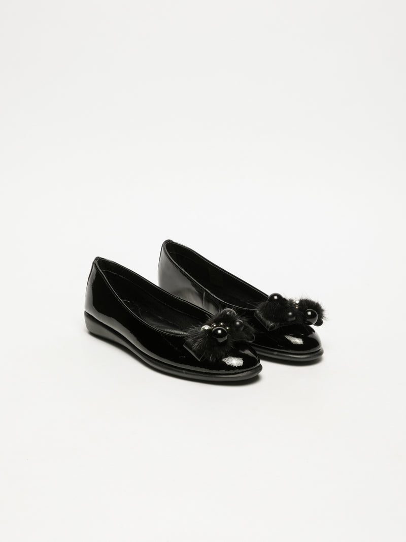 Black Patent Leather Ballerinas