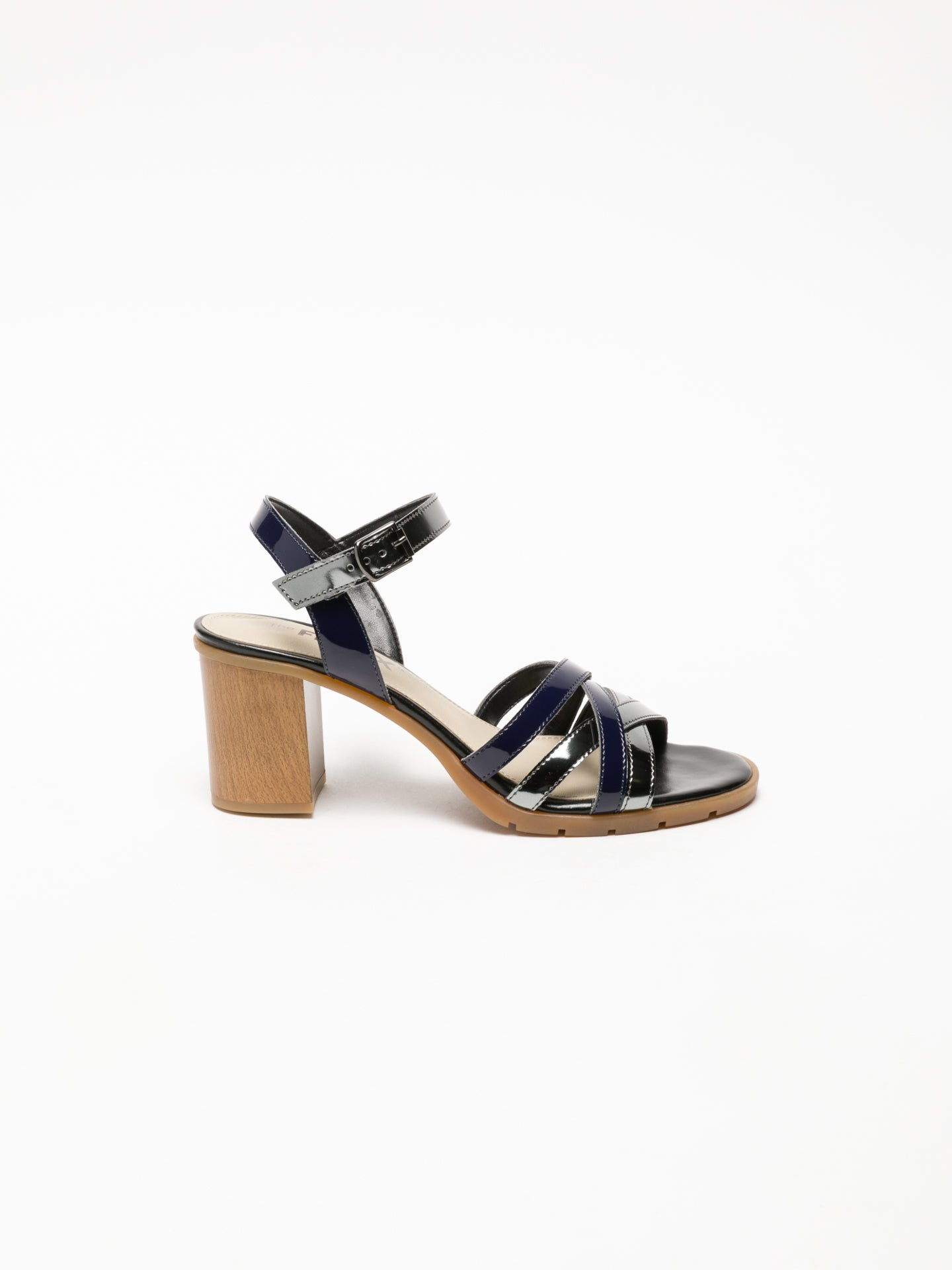 The Flexx Black Buckle Sandals