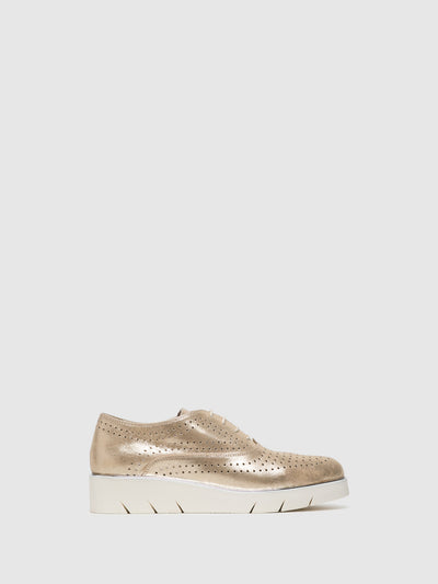 The Flexx Gold Lace-up Shoes