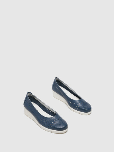 The Flexx Blue Wedge Shoes