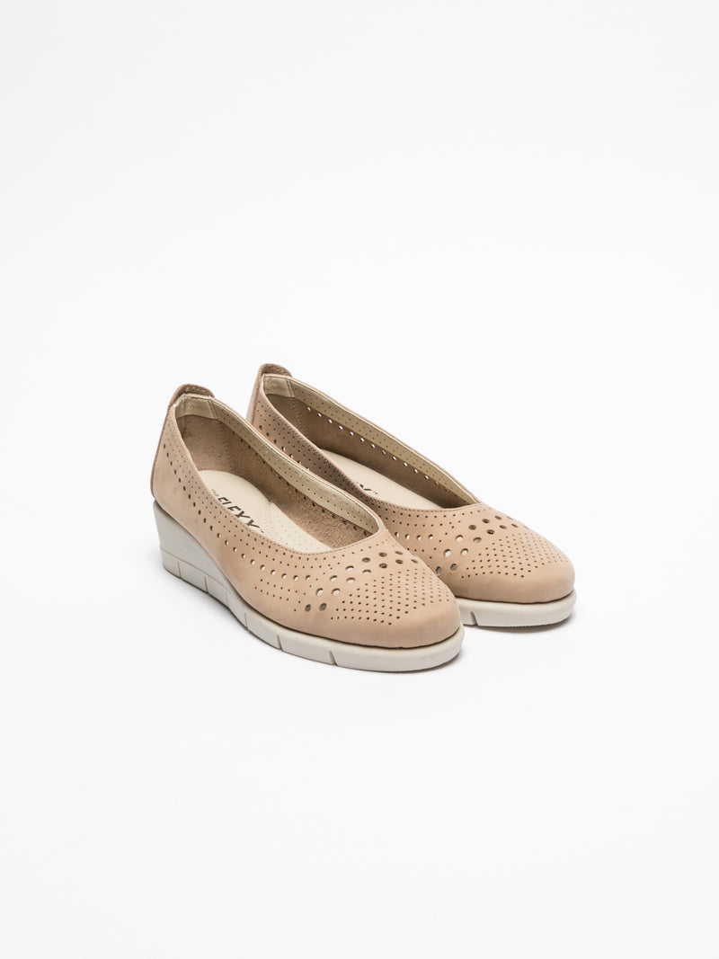 The Flexx Beige Wedge Shoes