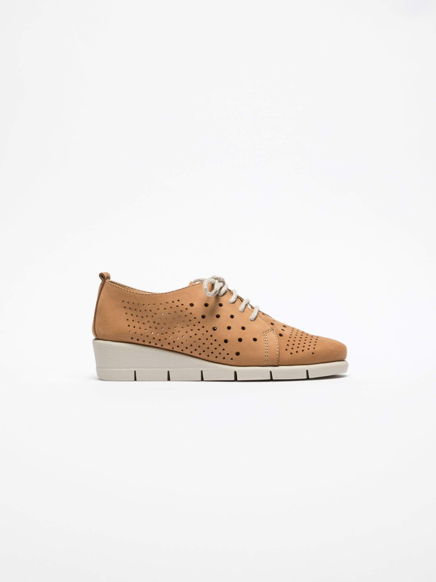 The Flexx Brown Lace Fastening Shoes