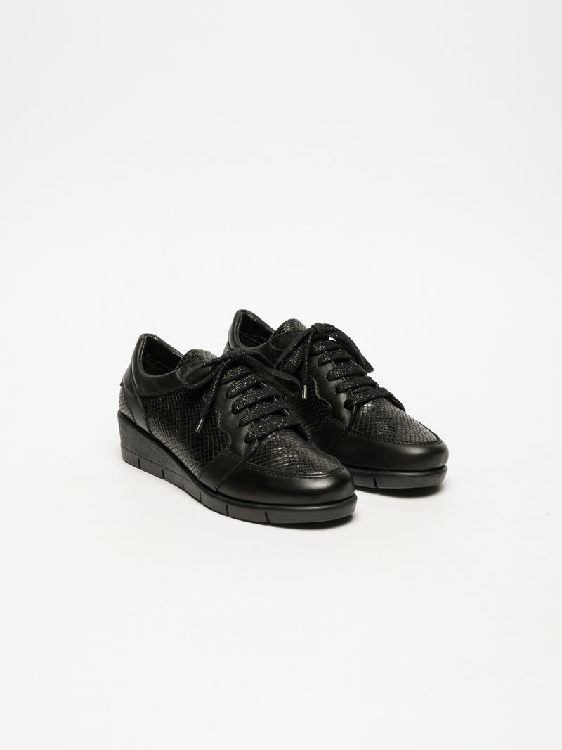 Black Hidden Heel Trainers