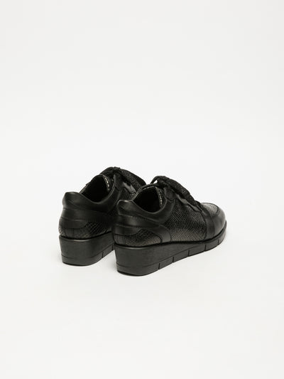 The Flexx Black Hidden Heel Trainers
