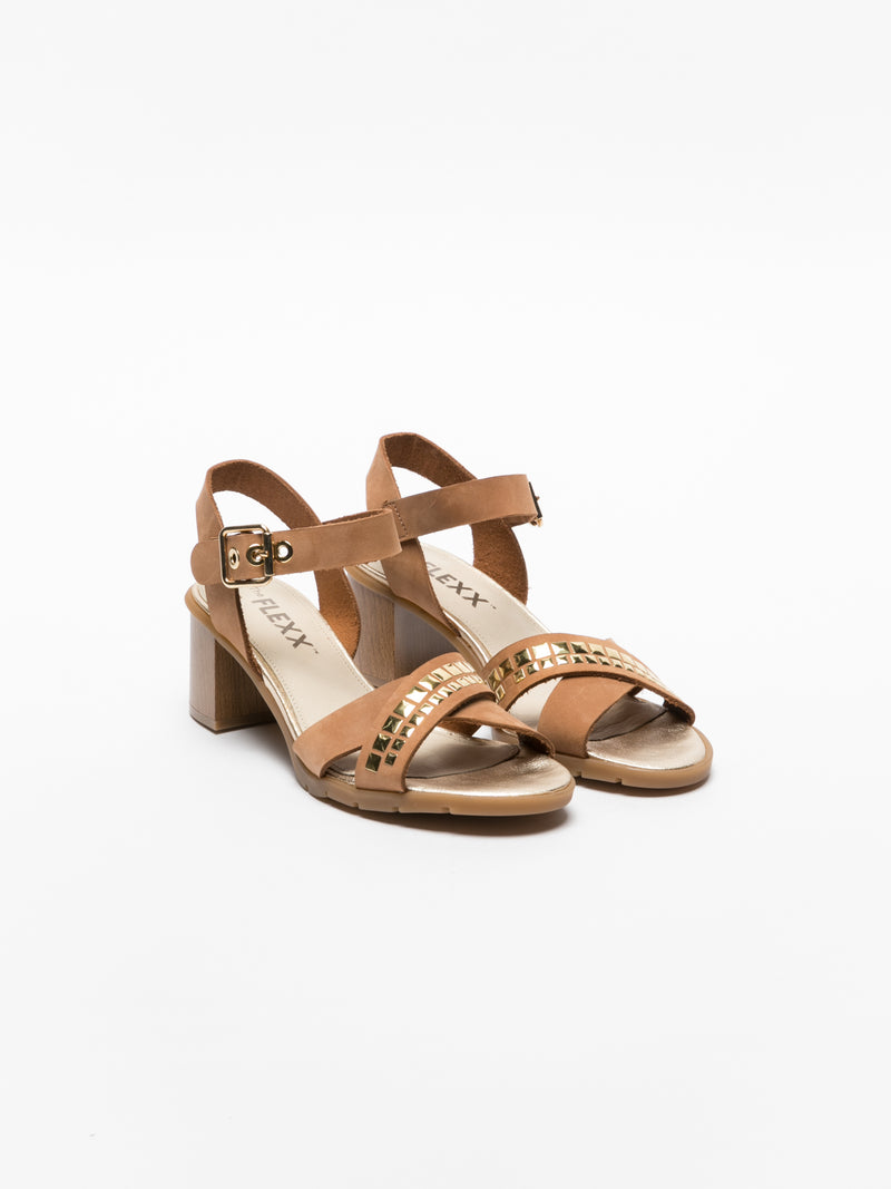 The Flexx Brown Sling-Back Sandals