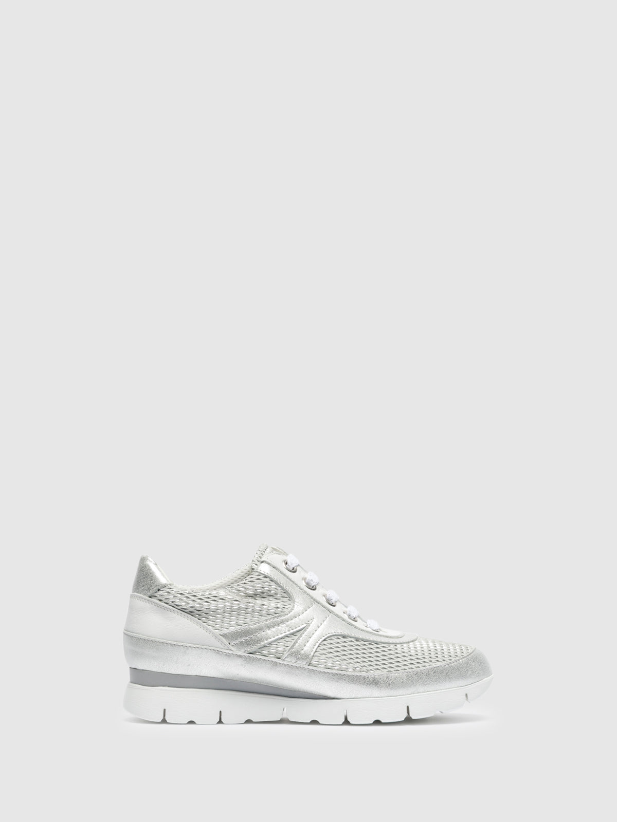 The Flexx White Lace-up Trainers