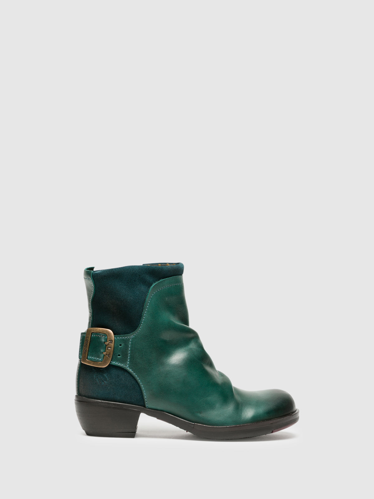 Fly London SeaGreen Buckle Ankle Boots