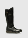 Fly London Black Zip Up Boots