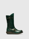 Fly London Green Buckle Boots