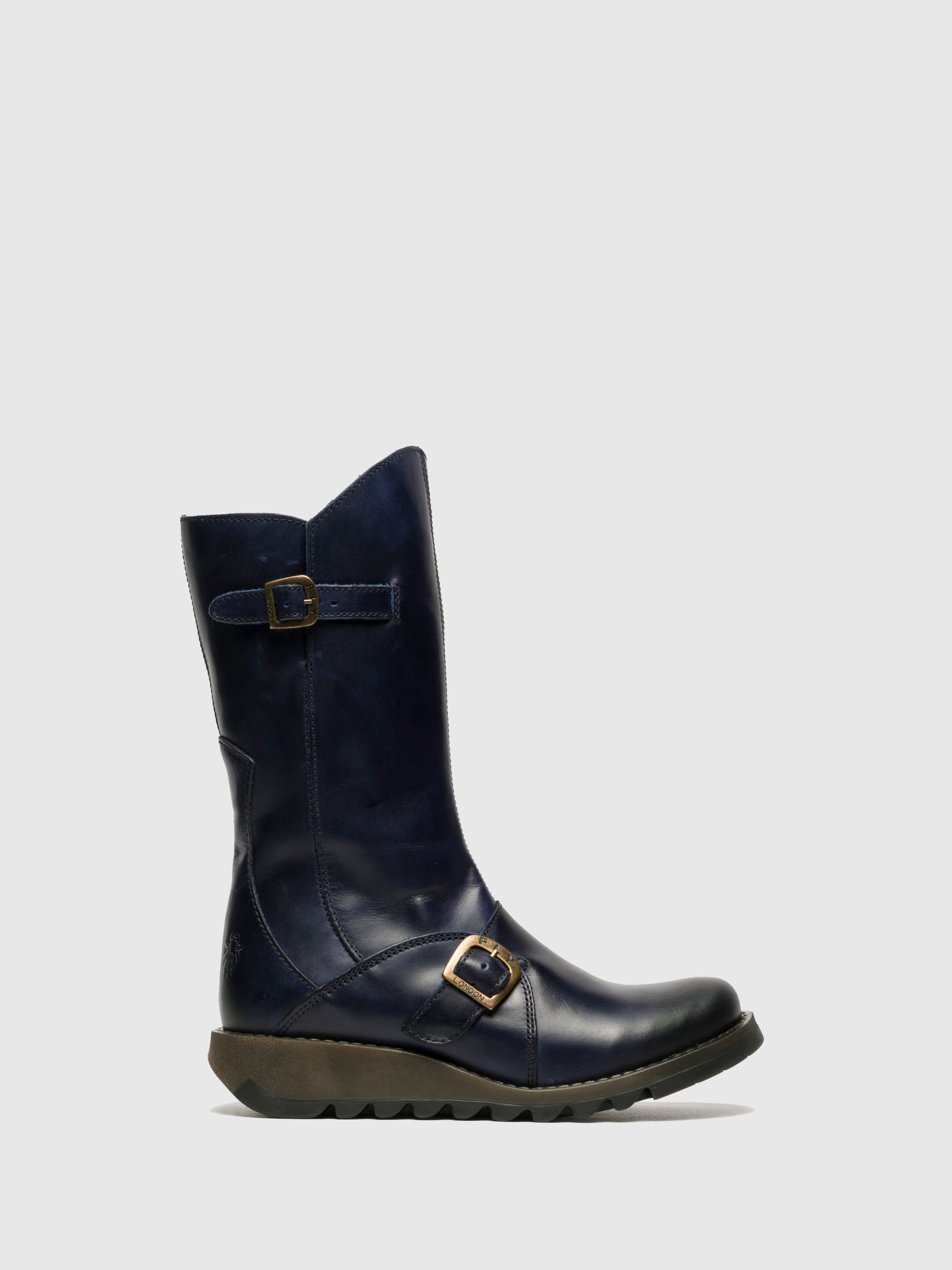 Fly London Blue Buckle Boots