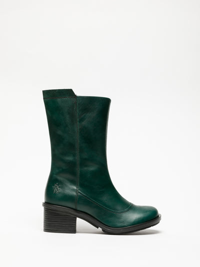 Fly London Green Zip Up Boots