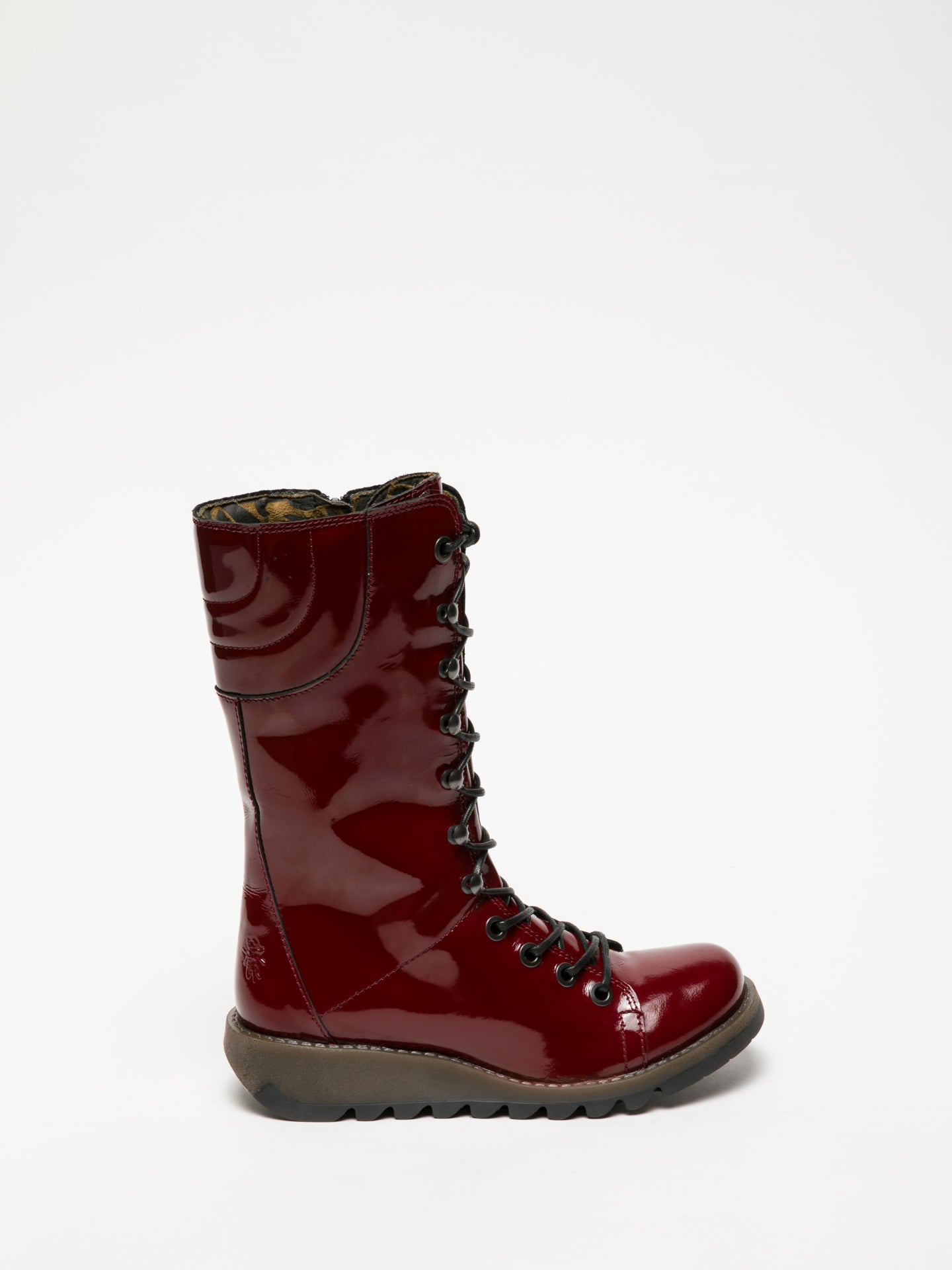 Fly London Purple Lace-up Boots