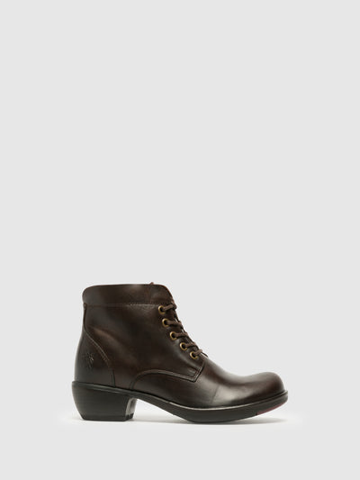 Fly London SaddleBrown Lace-up Ankle Boots