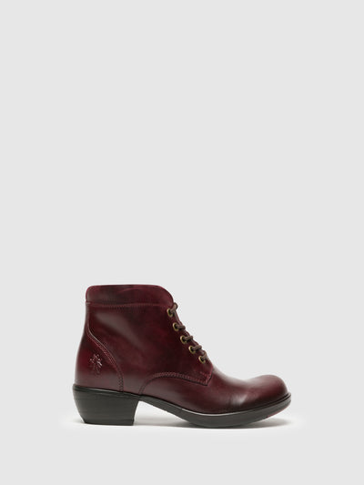 Fly London Purple Lace-up Ankle Boots