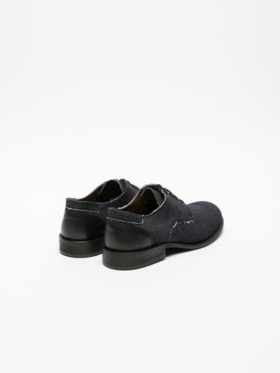 Fly London Coal Black Derby Shoes